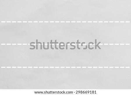 Paper cut line - stock photo