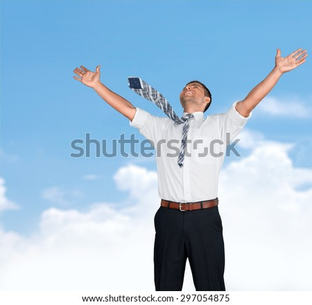 Paper, Document, Flying. - stock photo