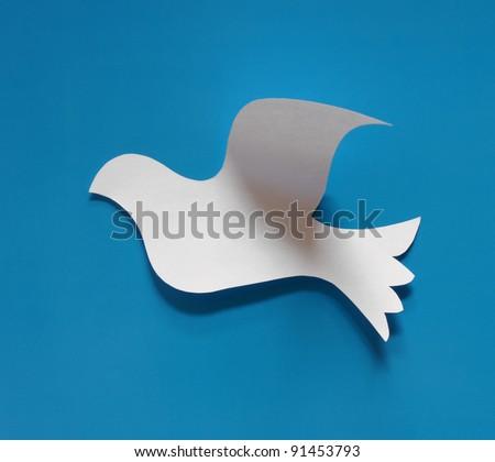 paper dove - stock photo