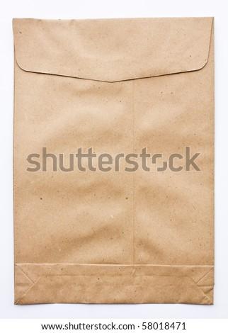 Paper Envelope isolated on white background - stock photo