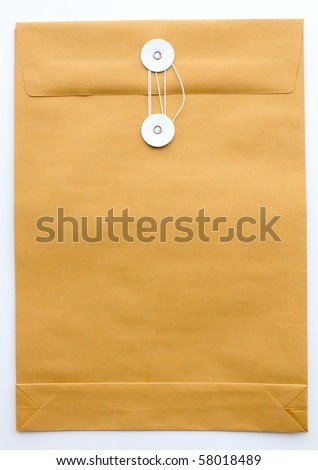 Paper Envelope isolated on white background - stock photo