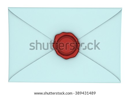 Paper envelope with a wax seal