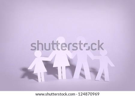 paper family - stock photo