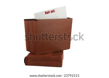 Paper File Accordion Folder Isolated on white background