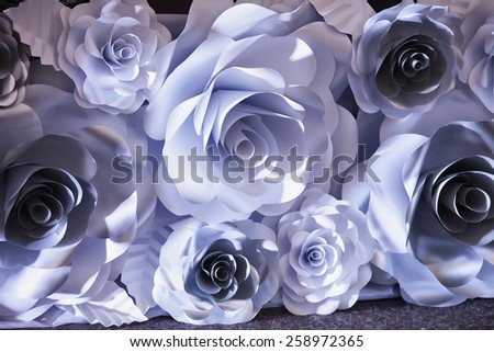 paper flower origami - stock photo