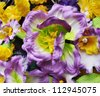 Paper flower seamless background pattern. - stock photo