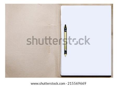 Paper folder - stock photo