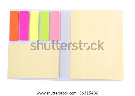 paper for marks on a white background - stock photo