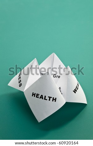 Paper Fortune Teller,concept of balance - stock photo