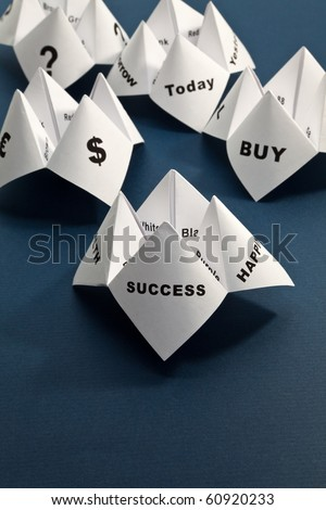 Paper Fortune Teller,concept of business decision - stock photo