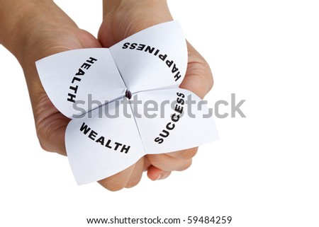 Paper Fortune Teller,concept of life balance - stock photo