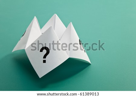 Paper Fortune Teller,concept of uncertainty - stock photo