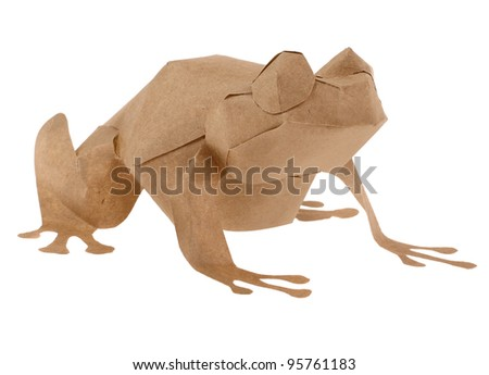 Paper Frog - stock photo