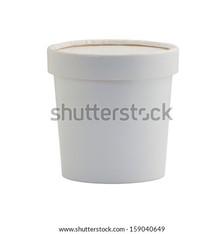 paper glass under the white background