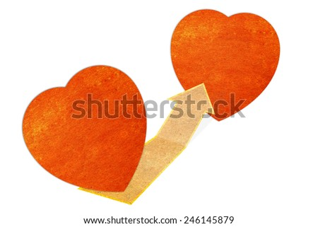 paper heart concept label - stock photo