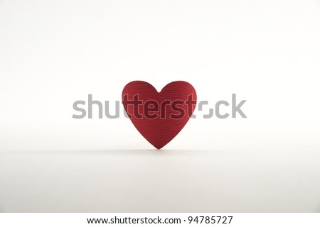 Paper heart on white background - stock photo