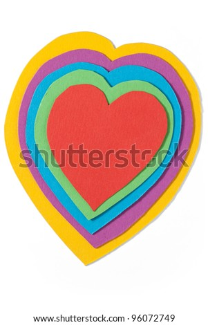 Paper heart. Path included. - stock photo
