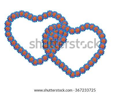 Paper  heart.(White background)  - stock photo