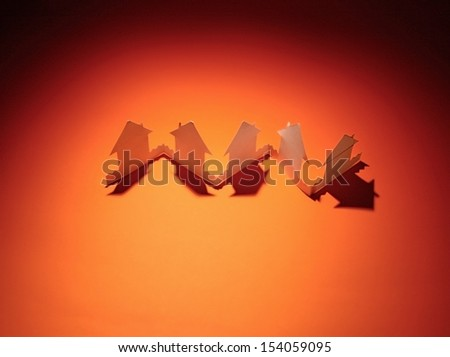 Paper house - stock photo