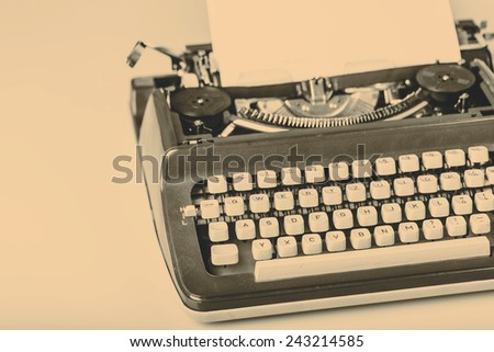 paper in typewriter with I Love You!!! as a text - stock photo