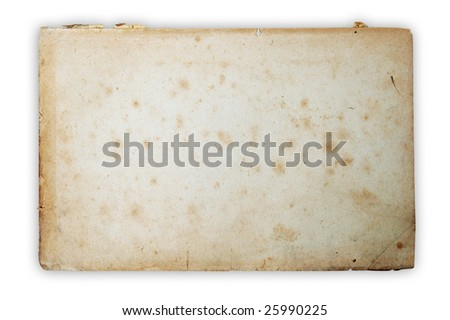 paper isolated on white background with clipping path