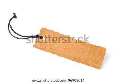 Paper label isolated on white - stock photo