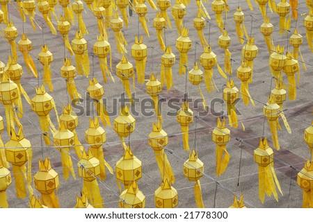 Paper lanterns, Chiang Mai, Thailand - stock photo