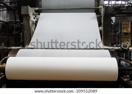 Paper mill Machine - stock photo
