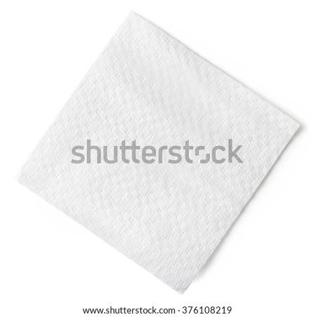 Paper napkin isolated on white background - stock photo