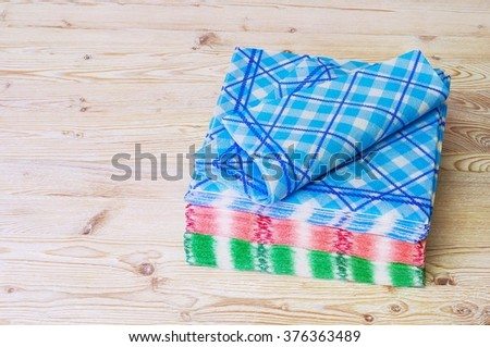 Paper napkins and towels. - stock photo