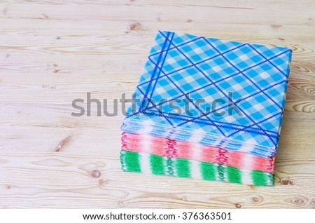 Paper napkins for hygiene. - stock photo