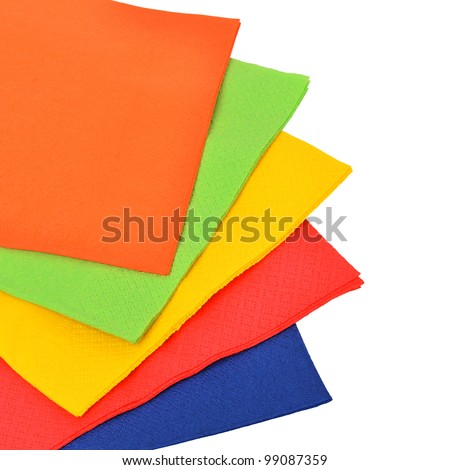 Paper napkins isolated on a white background.