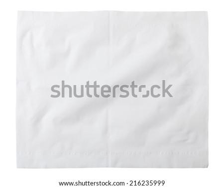 paper napkins isolated on white - stock photo