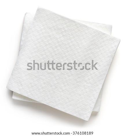 Paper napkins isolated on white background - stock photo