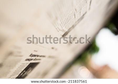 Paper news - stock photo