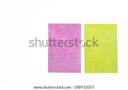 Paper note isolated on white background - stock photo