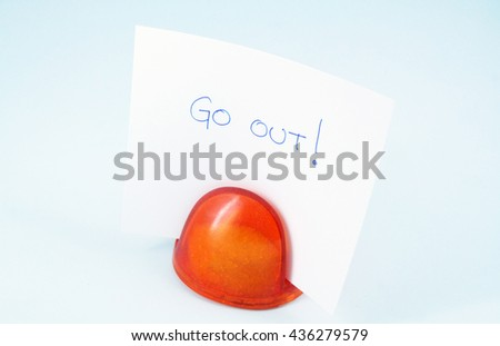 Paper note. Note reminder. - stock photo