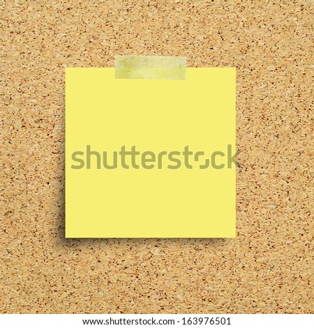 Paper note on a corkboard  - stock photo