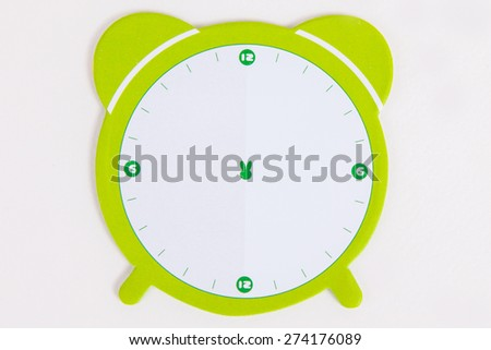Paper note on white paper background - stock photo