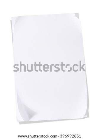 paper note pad isolated on white background - stock photo