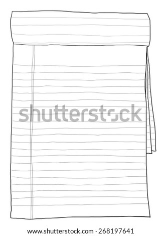 paper note vintage line art - stock photo
