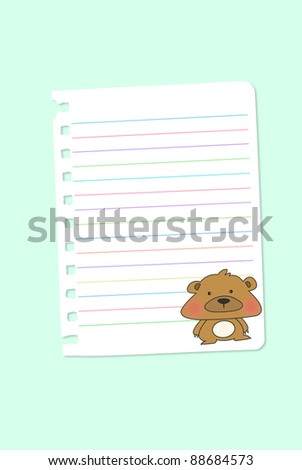 Paper notebook - stock photo