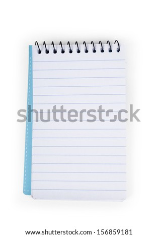 paper notebook on white background  - stock photo