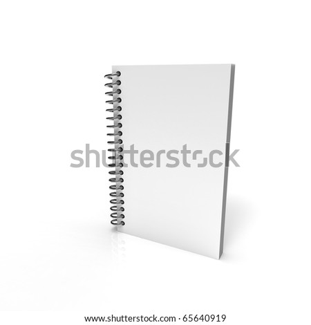 Paper notebook with metal spring - stock photo