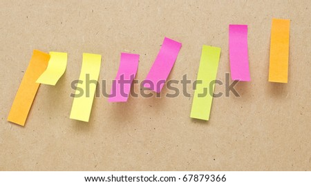 paper of the note on gray background - stock photo