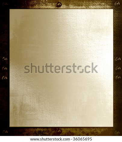 Paper On Metal Plate - stock photo