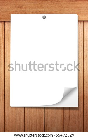 Paper on old wood - stock photo
