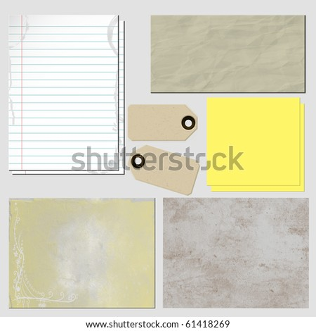 Paper on plain white background