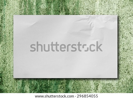 paper on the old cement floor - stock photo