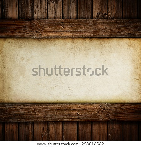 Paper on wood background or texture - stock photo